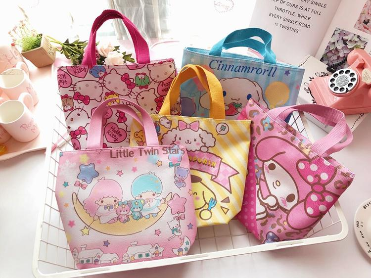fc800ac3195f Little Twin Stars Kids Lunch Bag Melody Carrying Bag Totoro Hello Kitty  Bags Lunch Bags sac isotherme almuerzo L19