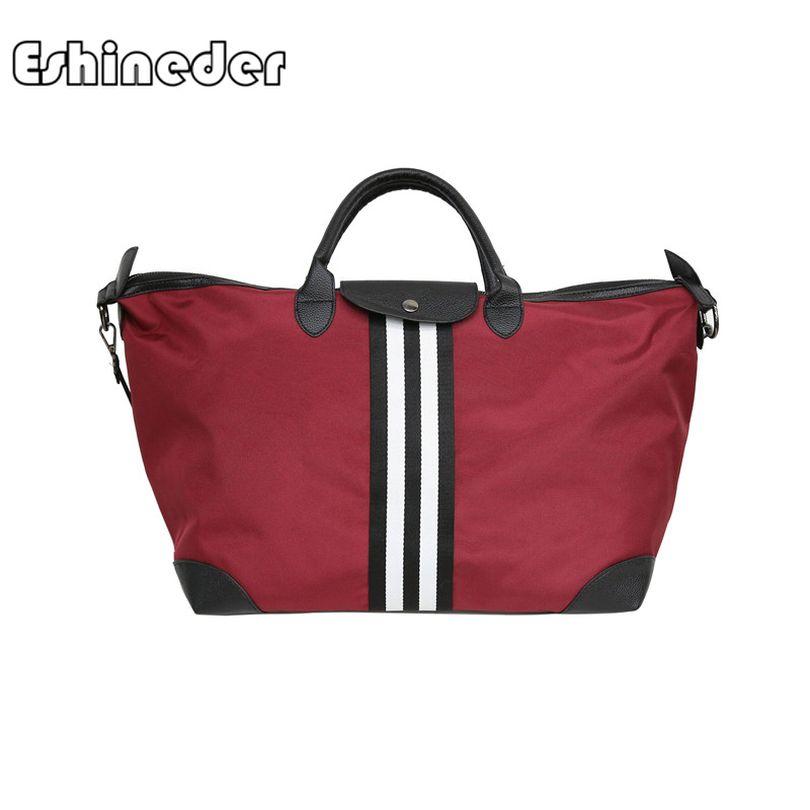 d6b8d3706f ESHINEDER Unisex Nylon Travel Bag Korean Short Distance Flight Bag Large  Capacity Duffel Portable Reistas Black Handbags New Man Bags Satchel Bags  From ...