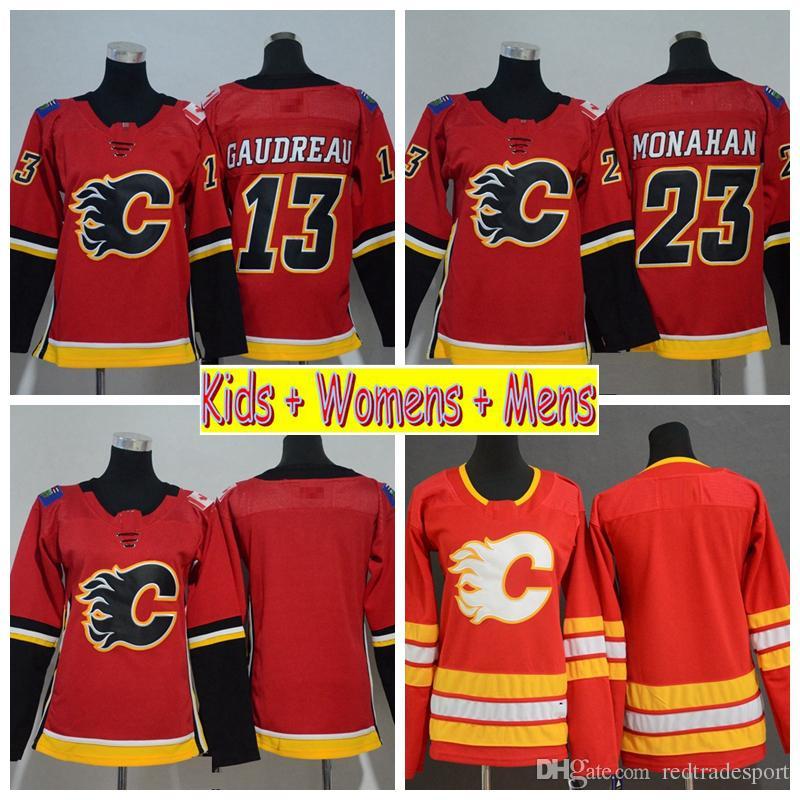 69a411da5ee shop 2019 2019 youth calgary flames hockey jerseys 13 johnny gaudreau 5  mark giordano 23 sean
