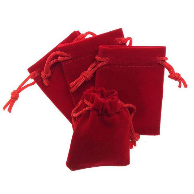 100 adet / grup 5x7, 7x9, 8x10, 10x12 cm Siyah / Mavi / Kırmızı / Şarap Kırmızı İpli Kadife Çanta Torbalar Takı Çanta Hediye Paketleme Çantası