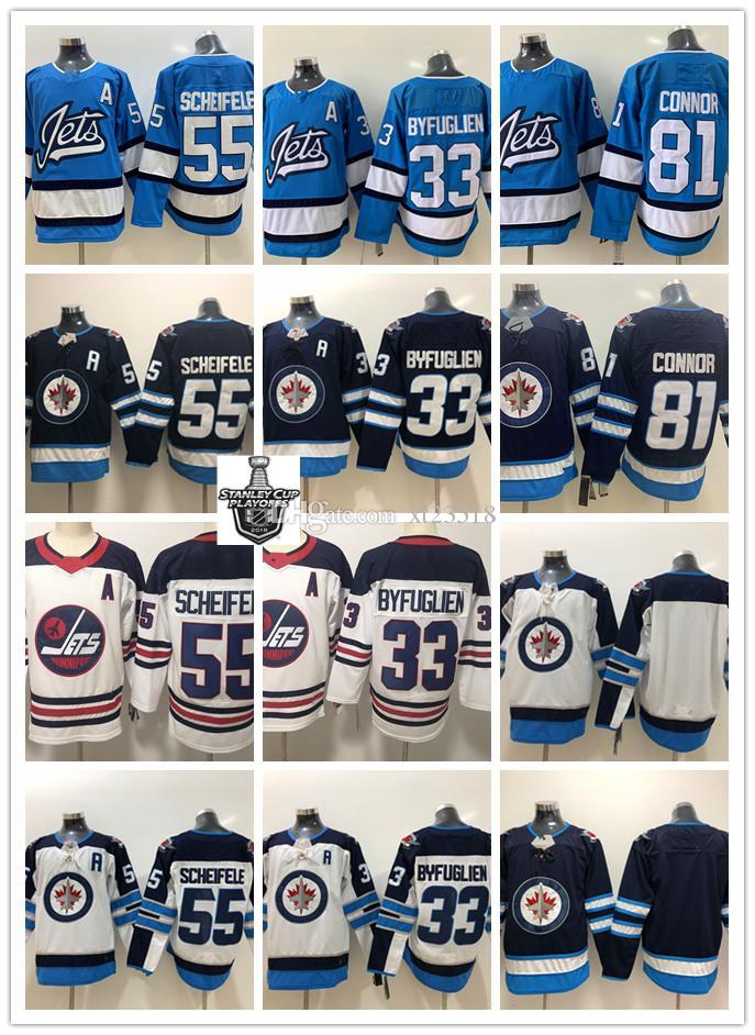 new arrival 498d1 bcb1f Mens Winnipeg Jets Mark Scheifele Jersey Stitched 55 Mark Scheifele 33  Dustin Byfuglien 81 Kyle Connor Winnipeg Jets Jersey