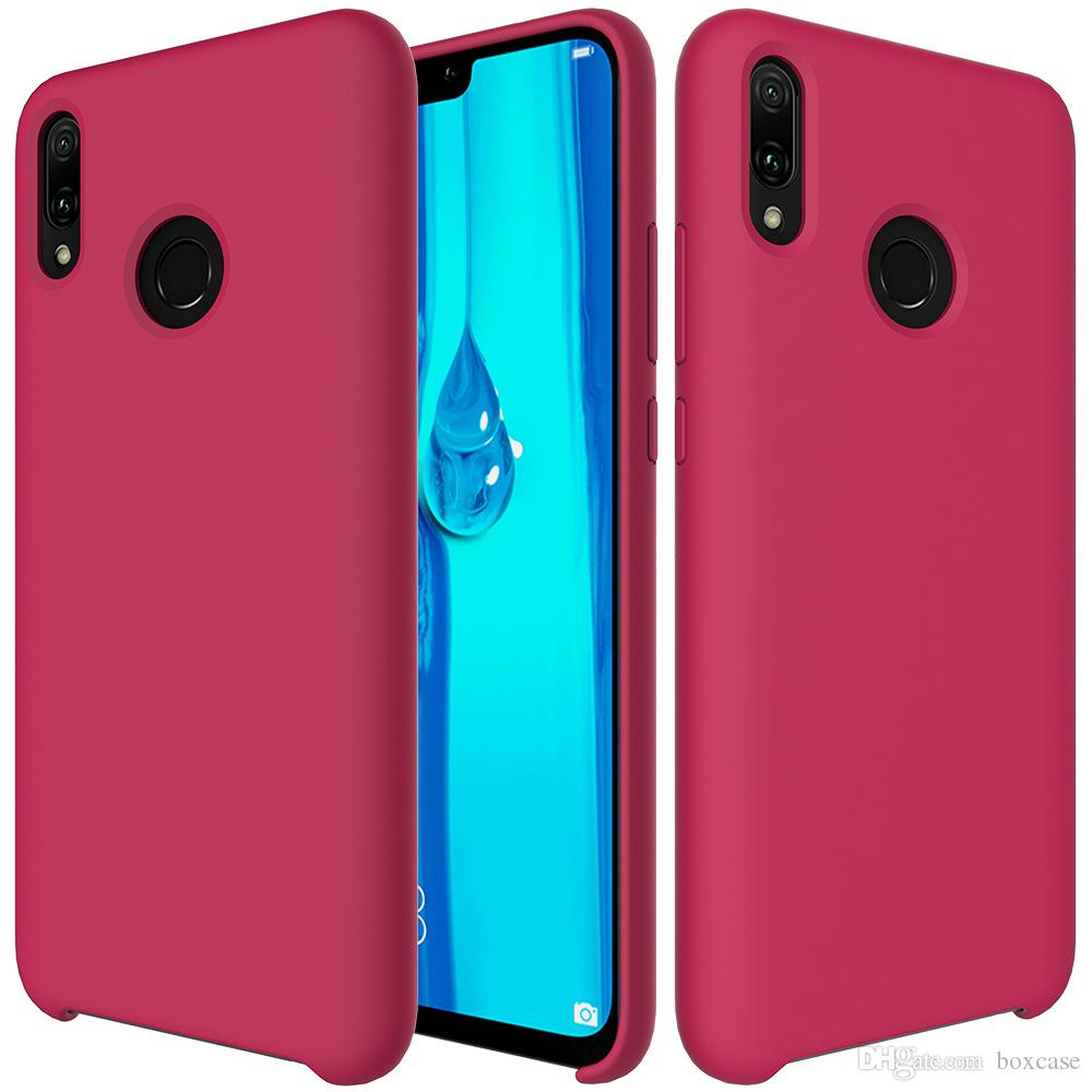 low priced 5e265 71d1a Luxury Soft Touch Liquid Silicone Case for Huawei Nova 3 3i Honor 10 Lite P  Smart Plus Shockproof Protective Cover Skin