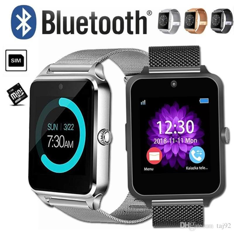 Smart wearable device Z60 smart Bluetooth watch stainless steel support SIM card TF card camera fitness tracker smart sports watch