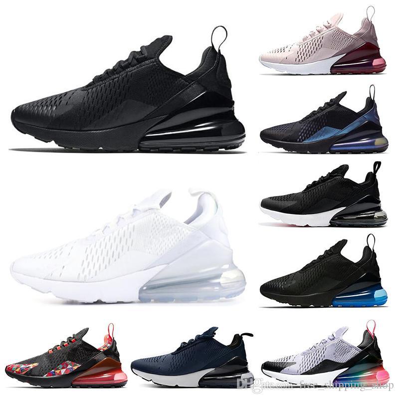 nike air max 270 Chaussures de course pour hommes Triple Black blanc à peine rose University Red Mint Green Grape Tiger femmes baskets de sport