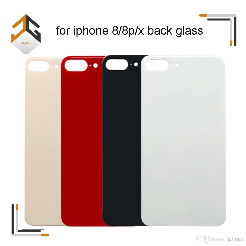 100PCS OEM Back Rear Battery Door Glass Housing Panel Cover With Adhesive For iPhone 8 8 Plus X DHL Free