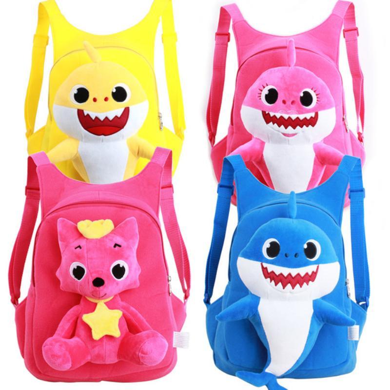cb4422333c5 Baby Shark Plush Backpack Soft Toys School Bag Animal Toy Backpack Mini  Cartoon Preschool Bag For Children Girls Boys MMA1466 Girls Backpacks  Drawstring ...