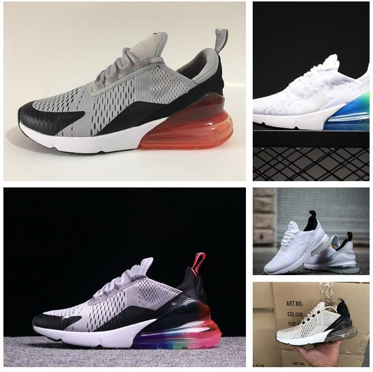 best service 0ff91 c48df High Quality 270 Shoes casual Shoes Men Plastic Cheap 270s Men Core white  Black Navy Training Outdoor Men Trainers Sneakers