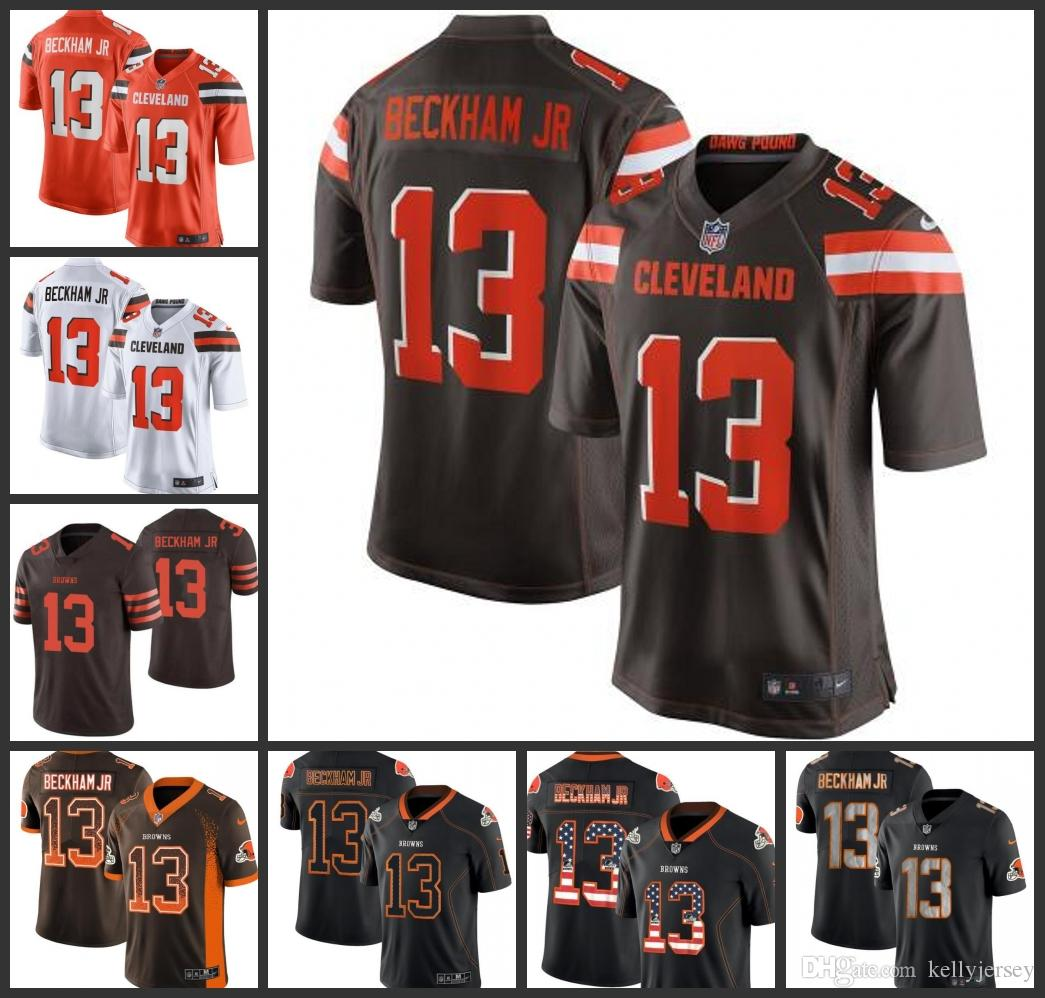 new product 7ab13 c5cde 2019 New Cleveland Men's Browns Jersey #13 Odell Beckham Jr Game Women  Youth Limited Jerseys