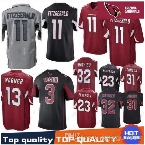f3f09a5227d2 2019 2018 Men  11 Larry Fitzgerald 3 Josh Rosen Cardinals Jersey 31 ...