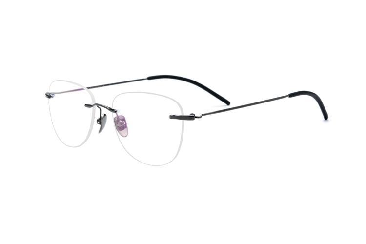3d7f3461c Compre B Pure Titanium Armação De Óculos Sem Aro Mulheres Óculos De  Prescrição Miopia Quadros Óticos Dos Homens New Vintage Oval Eyewear 2019  Novo De ...