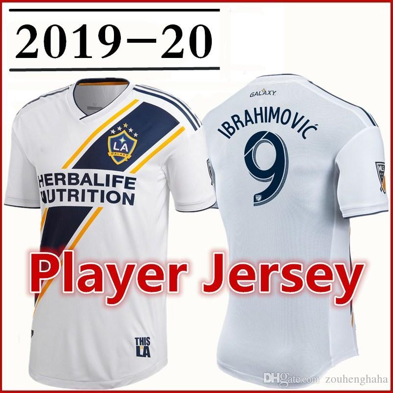 official photos d5243 d2196 Men LA Galaxy 2019 Primary Authentic Player version Jerseys Ibrahimovic Los  Angeles Galaxy GERRARD GIOVANI DOS SANTOS Player Football shirts