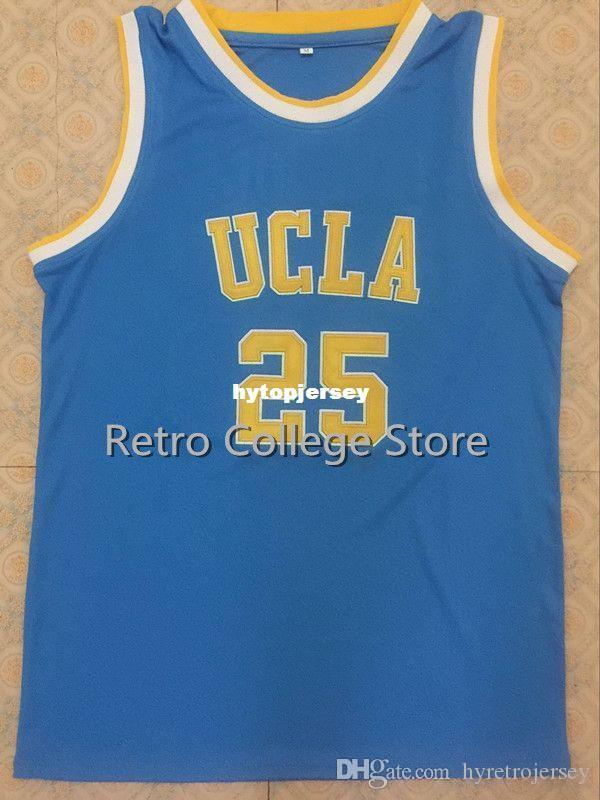detailed look 40ad2 d12d4 #25 UCLA Bruins Goodrich Retro men stitched embroidery Basketball jersey,  Custom Size Size and Player Name white bule XS-6XL Vest Jerseys N