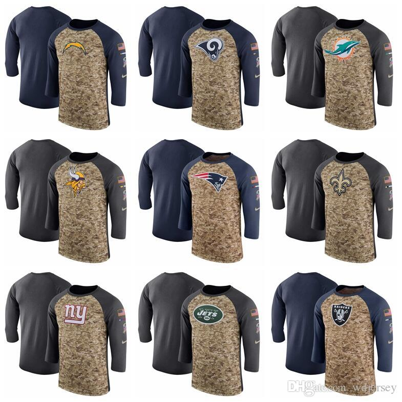 Men Los Angeles Vikings Chargers Rams Dolphins Patriots Saints Giants Jets  Camo Navy Salute To Service Sideline Legend Performance T Shirt UK 2019  From ... a481107dd
