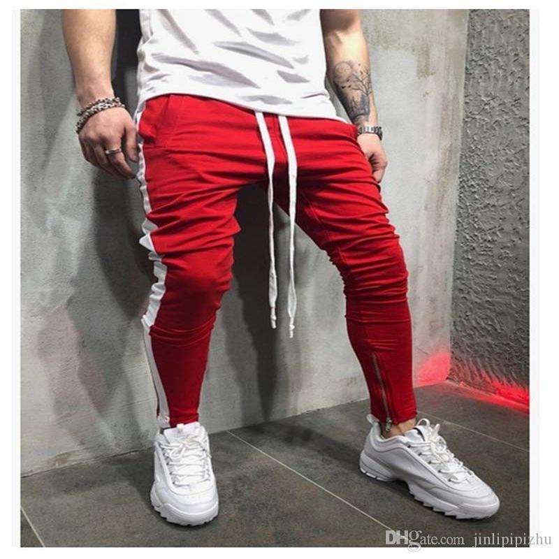 2018 Neue Stil Mode Herren Patchwork Zipper Mit Tasche Hosen Casual Casual Bottoms Bleistift Hosen Hosen Herrenbekleidung & Zubehör Hosen