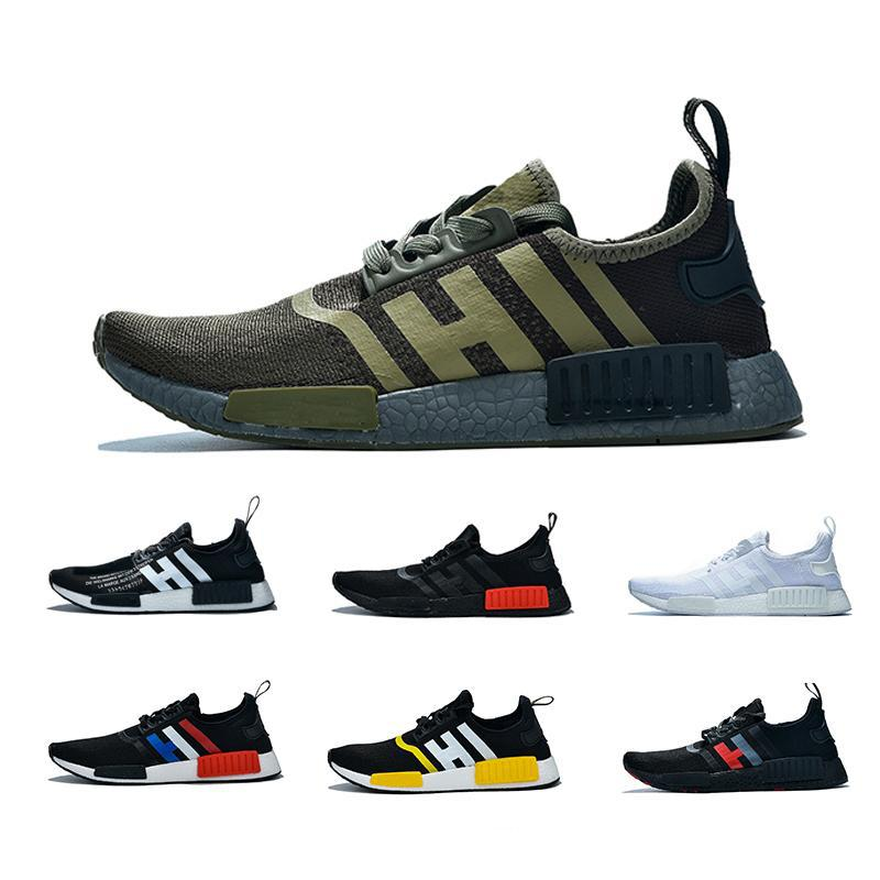 on sale 5be4e d7211 Newest NMD R1 Cheap Atmos Bred Running Shoes Black White Red Marble  Tri-Color OG Classic Men Women Sports Trainer Sneakers 36-45