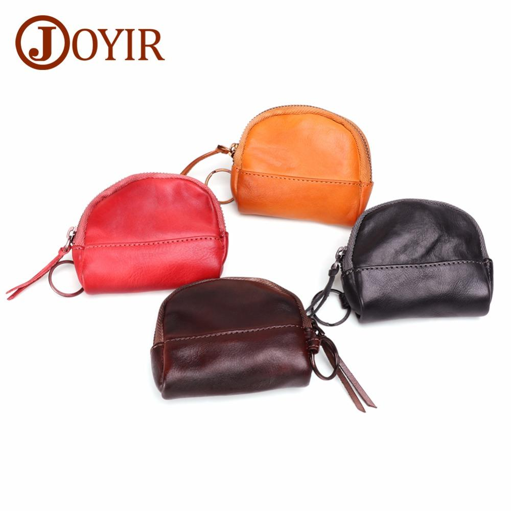 eec942a697 JOYIR Genuine Leather Coin Purses Women's Small Change Money Bag ...