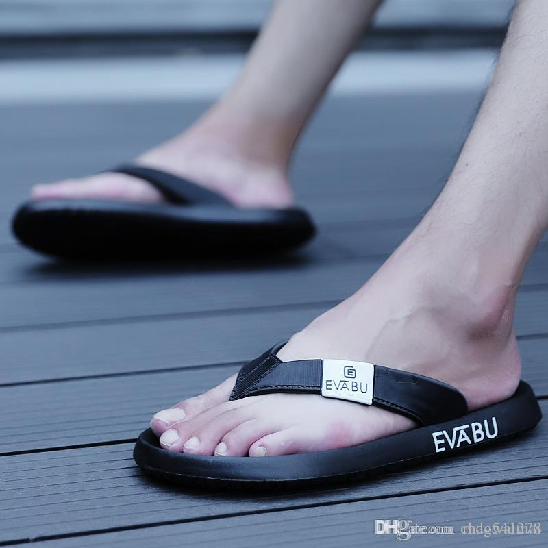 c74523412c6 Summer Men Slippers Brand Designer Flip Flops Beach Sandals Non Slide Male  Slippers Zapatos Hombre Casual Shoes Booties Mens Boots From Chaowalmai