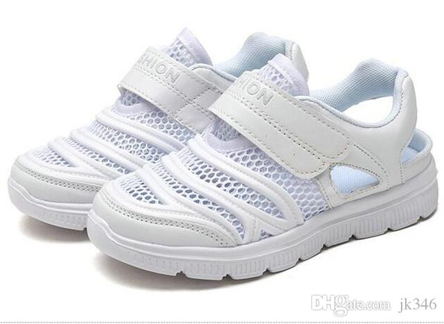 Jeff Sneaker kids All White Fashion Casual Shoes Comfortable Mesh Upper light weight