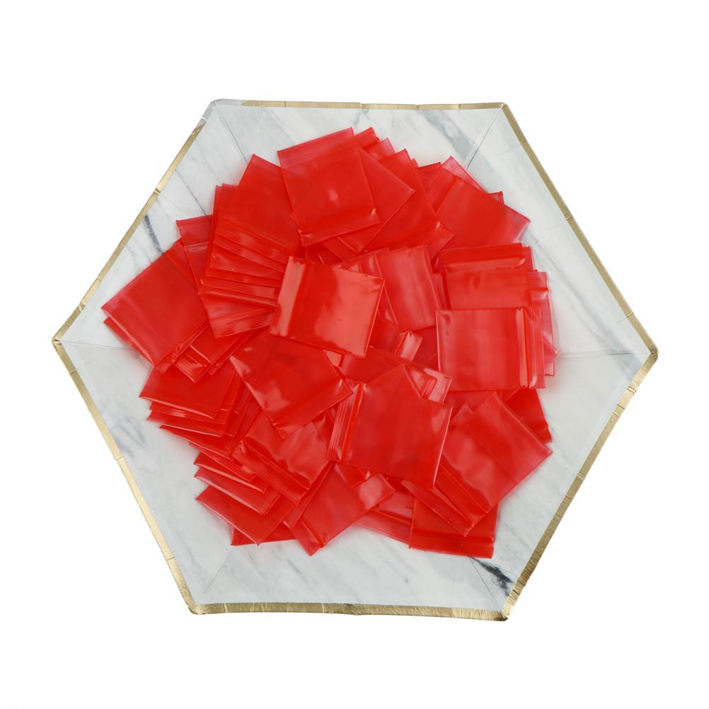 100pcs 3*4cm Mini Zip Lock Bags Plastic Packaging Bags Small Plastic Zipper Bag Ziploc Jewelry Coin Poly Bag