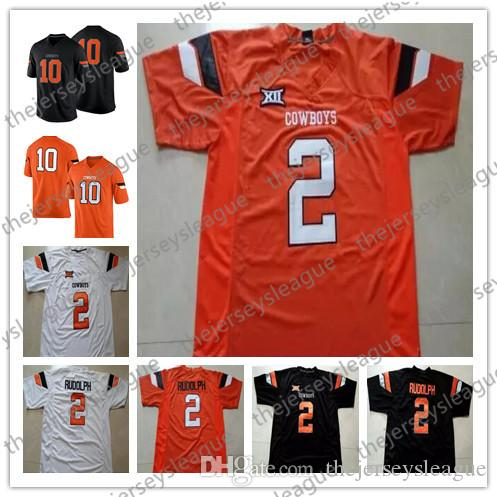 28e751f2543 2019 Oklahoma State Cowboys #2 Mason Rudolph 99 Trey Carter 28 James  Washington White Orange Black Stitched NCAA College Football Jersey From ...