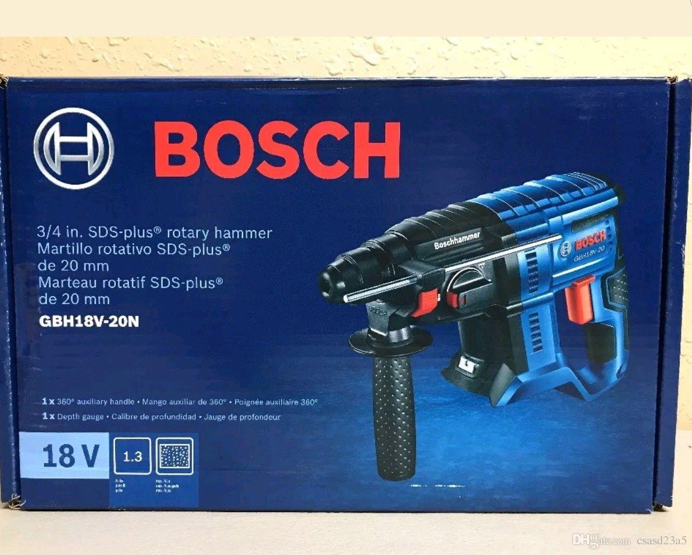 BOSCH GBH18V-20N - 18V 3/4 In. SDS-plus Rotary Hammer (Bare Tool) NUOVA Nave Libera
