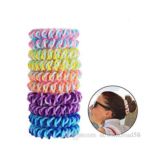 5.5cm Spiral Hair Ties No Crease Elastic Ponytail Holders Phone Cord  Traceless Hair Ring For Women Thick Hair Hair Accessories For Wedding Hair  Accessories ... 34f0a558ce3