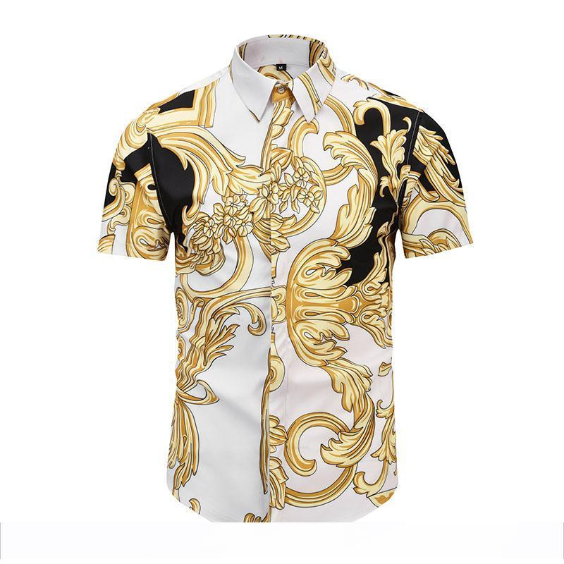 2019 Summer Fashion Men's Shirt 3D Harajuku Style Shirt Medusa Print Shirt Retro Men's Casual Top Short SleeveTop M-XXL