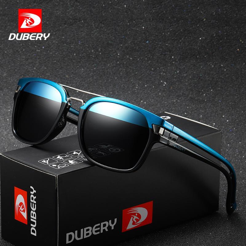 b20124807 Compre DUBERY Óculos De Sol Do Vintage Polarizada Dos Homens Óculos De Sol  Para Os Homens Quadrados Óculos De Condução Preto Retro Oculos Macho 9  Cores ...