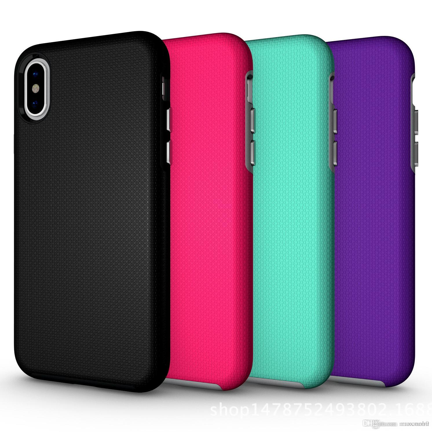 For iphone XS MAX XR X 6S 7 8 PLUS tpu pc Hybrid Case Rugged Rubber Matte Shockproof Hard Case for cell phone S8 S9 plus note 8 9 case slim