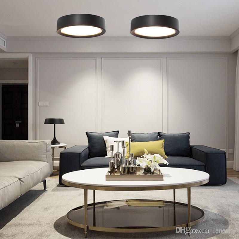 Ultra mince 4 Couleur LED Plafonnier Moderne Lampe Salon Chambre Chambre  Salle De Bains Décoration de La Maison Cuisine Surface Mount AC220V