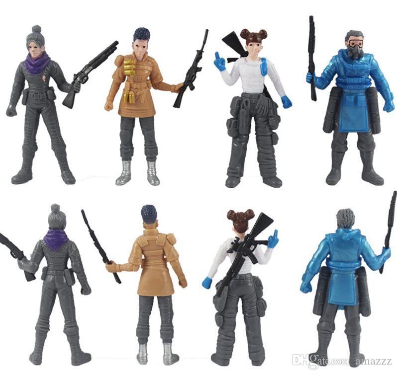 10 juego de 8 juegos de estilo Apex Legends Figuras de acción juguetes 2019 Nuevas armas APEX batalla real modelo de muñeca de juguete modelo para niños