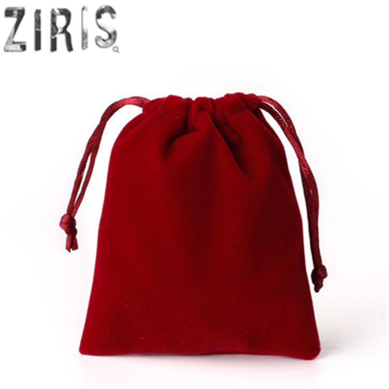 High Quality Soft Velvet Bages 7x9 cm Charms Earrings Jewelry Packaging Bags Wedding Decoration Velvet Pouch Candy Gift Bags