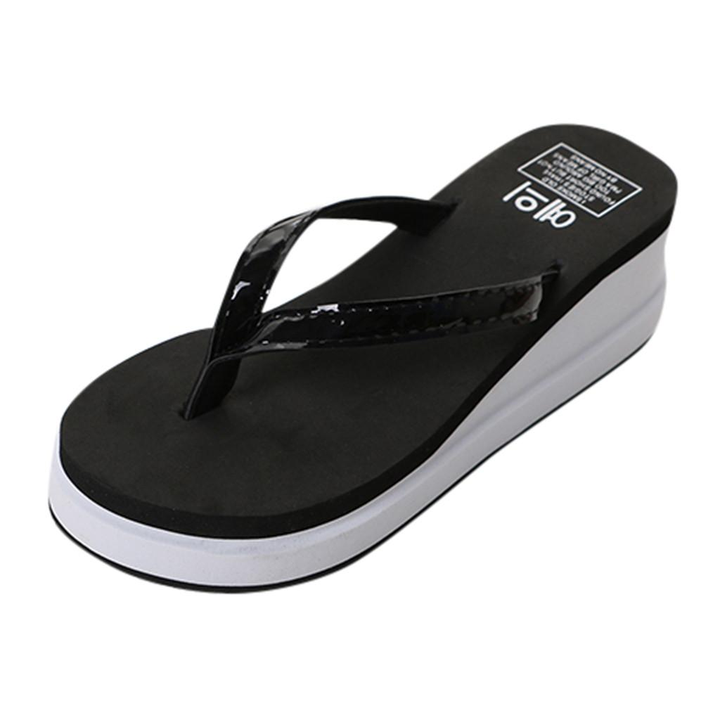 678ee0023 SAGACE Fashion Ladies Slipper Flat With Shoes Summer Female High Heeled Flip  Flops Thick Soled Sandals And Slippers Beach Shoes Walking Boots Womens  Cowboy ...