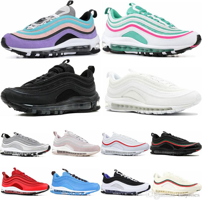 competitive price 65251 aba13 2019 Running Shoes South Beach Gold Silver Bullet Triple White Black Have A  Day Mens Womens Trainer Sports Sneaker Size Eur 36 46 Mens Sale Cheap  Running ...