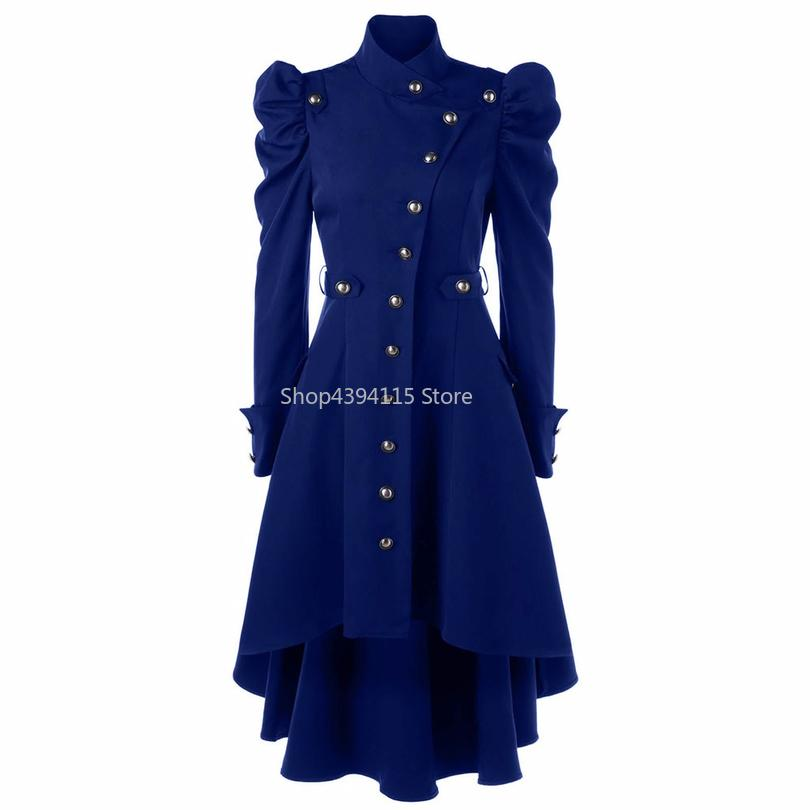 Long Manteau Pardessus Hiver D Girls Shrug Automne Vintage Trench Femme Noir Coat Retro Redplain Dames Pour PkwO0n