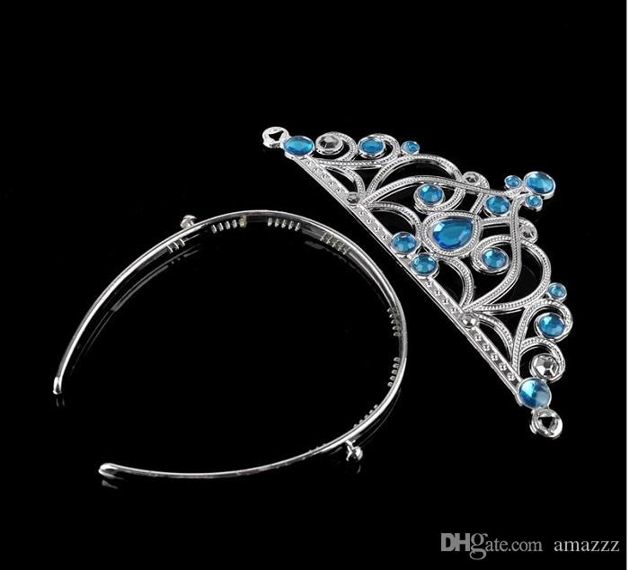 30set Frozen Headwear 4pcs/set Crown Wig Wand Gloves Party Dress Up Princess Dance wear