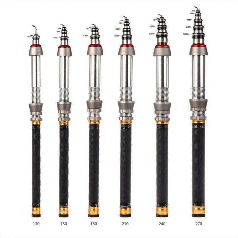 Mini Fishing Rod High Hardness Durable Carbon Aluminium Alloy Ocean Rock Poles Saltwater Fishing GMT601