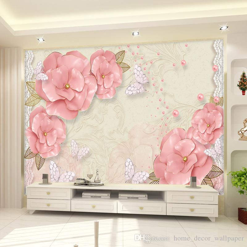 HD photo 3D non-woven wallpaper chinese style magnolia flower birds wallpaper for bedroom for living room background DECORATION