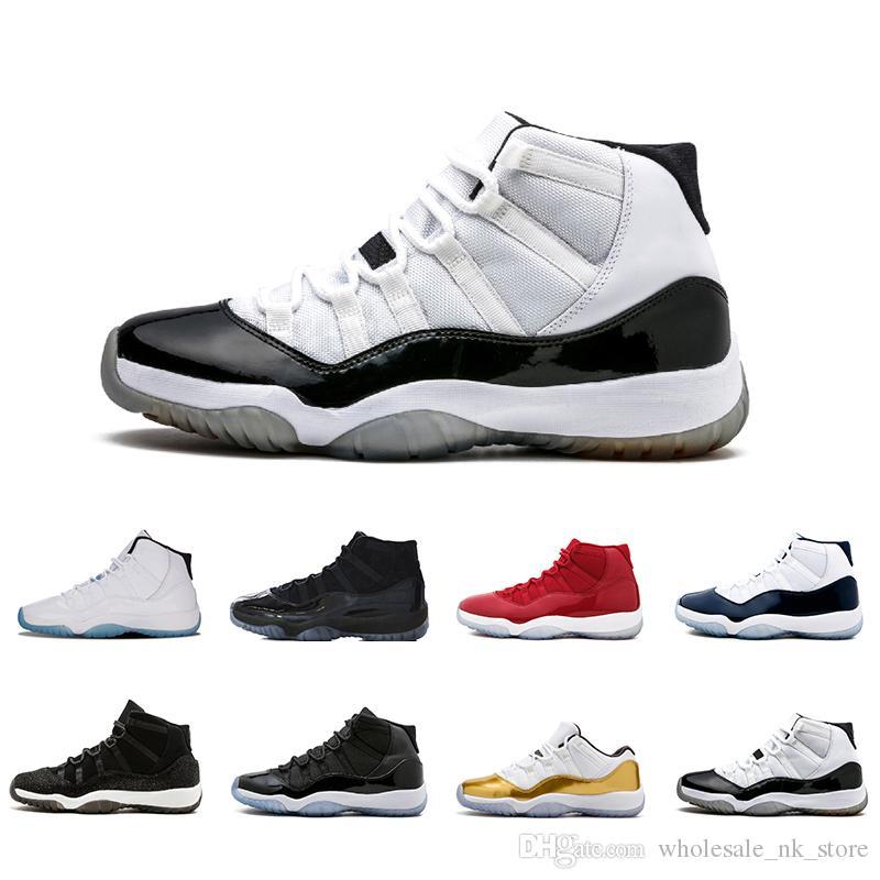 the latest 55a81 1a06f Großhandel Concord High 45 11 XI 11s Mütze Und Kleid PRM Heiress Gym Roter  Chicago Platin Farbton Space Jams Männer Basketball Schuhe Sport Sneakers  Von ...