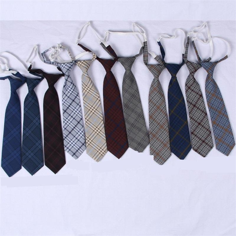 Formal Ties Lattice Neckwear Skinny Necktie Men And Women School Style Colors Mix Fashion 7 5zb F1