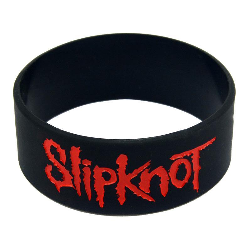 JEPHNE Music Slipknot Pulseira De Borracha De Silicone Pulseira Cuff Punk Rock Elástico Pulseira Homens Pulseiras de Moda Jóias Presentes