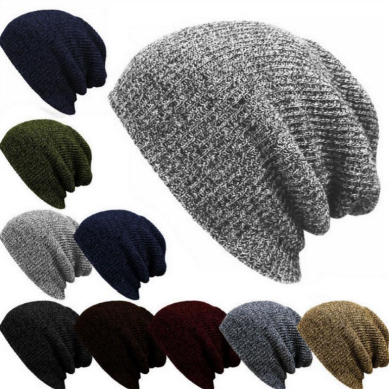 Hot Wholesale Winter Beanies Solid Color Hat Unisex Plain Warm Soft Beanie  Skull Knit Cap Hats Knitted Touca Gorro Caps For Men Women Winter Hats  Beanie ... 5b196215290