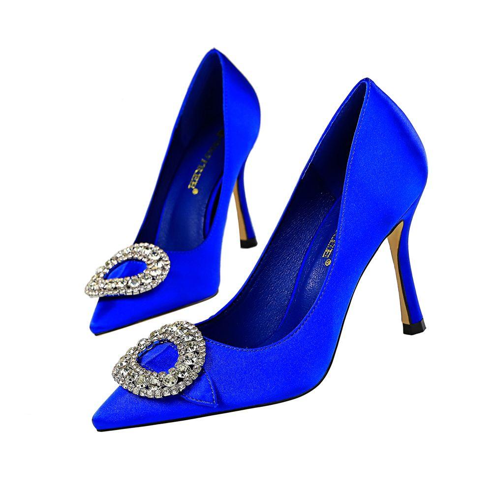 d344c0c7d7182 Fashion Rhinestone Lady Dress Shoes Women Heels Pumps High Heels Festival  Party Wedding Shoes Stiletto Formal Pumps Business Shoes GWS620