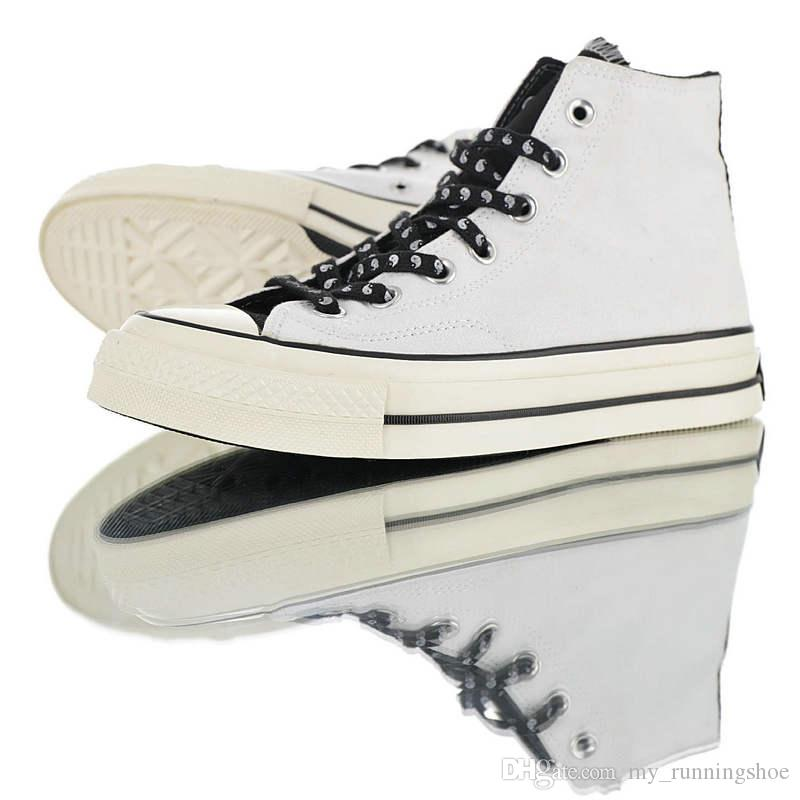 2019 Hot Sale ESSENTIALS x All Stars 1970s High top Vulcanized Board Casual Canvas Shoes Black White High Quality Men Women SneakerSize35-46