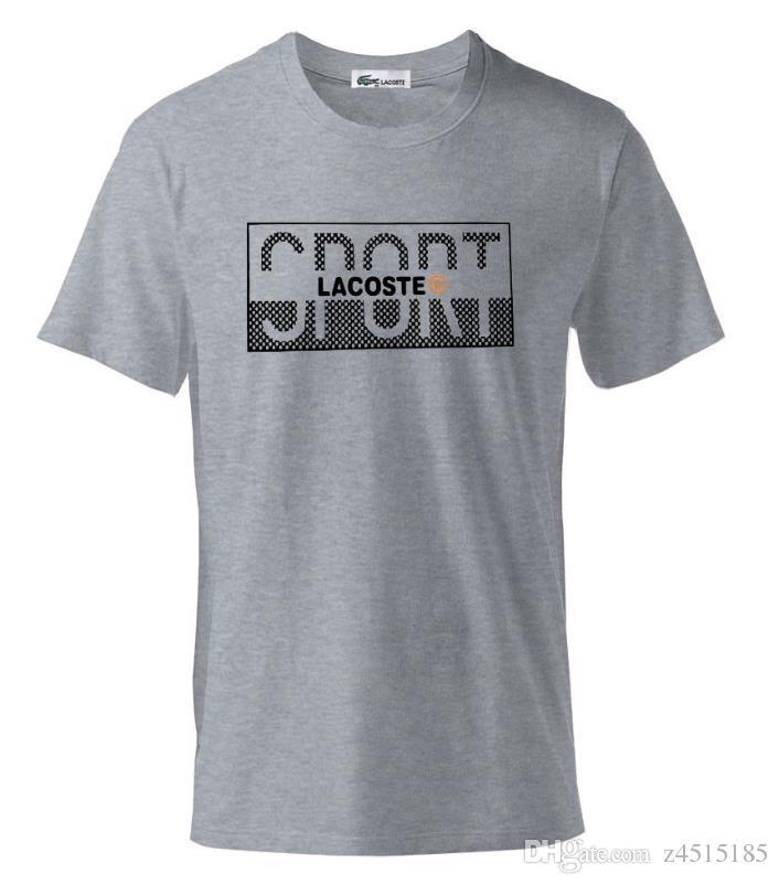 1d116eeb55 Acheter Mens Marque De Vêtements De Marque Polo Tees De Haute Qualité Pur  Coton Crocodile T Shirt D'été Rubik Cube T Shirt Hommes De Couleur Fondue T  Shirt ...