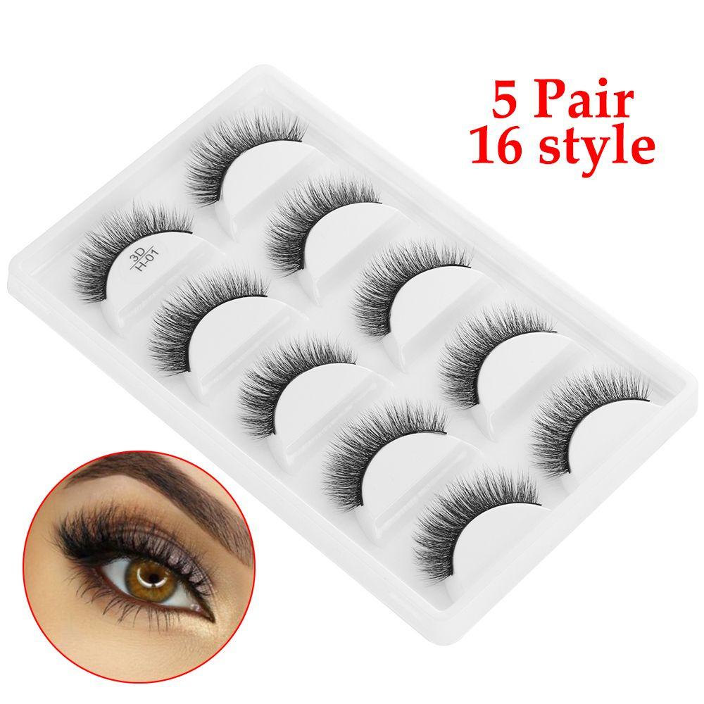 3a87bc3b467 100% Real Mink Eyelashes 3D Natural False Eyelashes Lashes Soft Natural  Wispy Flutter Eyelash Extension Makeup Kit Eyebrow Extensions Fake Eyelashes  From ...