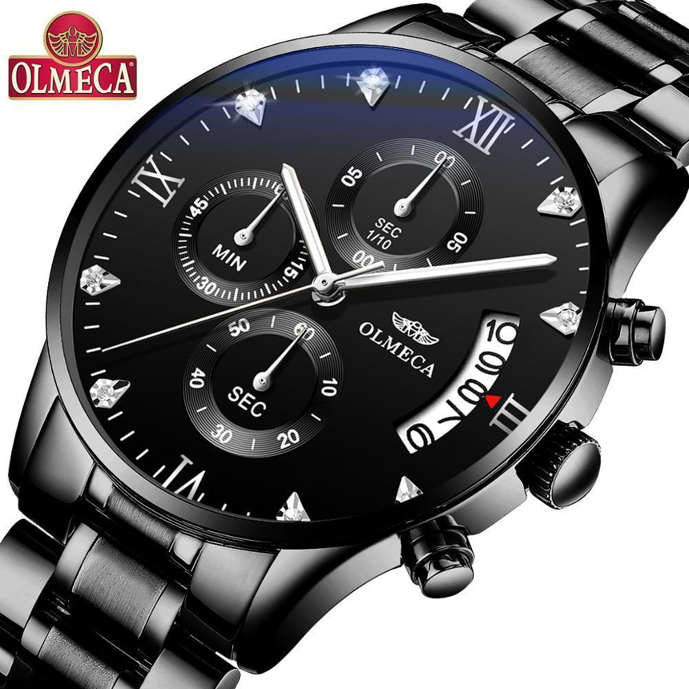 Olmeca Relogio Masculino Men Watches Luxury Famous Top Brand Men's Fashion Casual Dress Watch Military Quartz Wristwatches Saat J190715