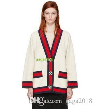 WOMEN Cable knit cashmere wool cardigan lurex top Knitted shirt cardigan coat jacket outwear with bow straps v neck blouse with stripe