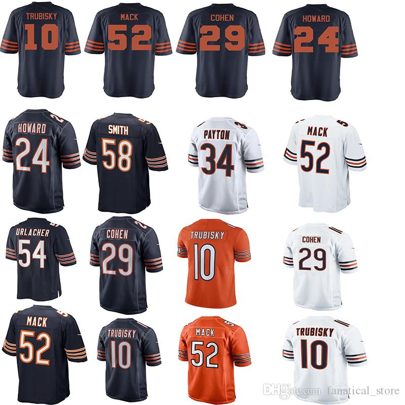 52 Khalil Mack 10 Mitchell Trubisky Chicago Bears Jersey 58 Roquan ... d2b752d9f