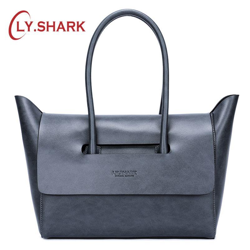 a6083f5bd1 SHARK Genuine Leather Women Bag Shoulder Bag Ladies Handabgs 2018 Luxury  Handbags Women Bags For Female Brand Handbags Satchels Leather Purses From  Gadarr